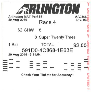 horse betting tickets